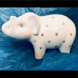 "🌟TIFFANY - PORCELAIN ""ELEPHANT"" PIGGY BANK!"